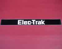 Seat housing rear decal (E8 & E10)